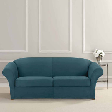 jcpenney.com | SURE FIT® Ultimate Heavyweight Stretch Suede Sofa Individual 2 Cushion Slipcover