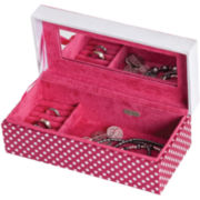 Mele & Co. Suzy Embroidered Love Hot Pink Jewelry Box