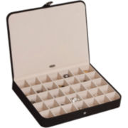 Cameron Black Plush Jewelry Box