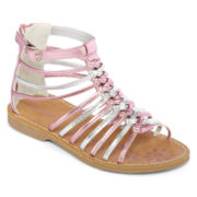 Okie Dokie® Ginny  Girls Gladiator Strap Sandals - Toddler