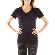 Ambrielle® Short-Sleeve Sleep Tee