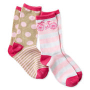 Maidenform 2-pk. Crew Socks - Girls