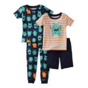 Carter's® 4-pc. Monster Pajama Set - Boys 12m-24m