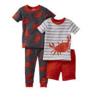 Carter's® 4-pc. Hermit Crab Pajama Set - Boys 12m-24m