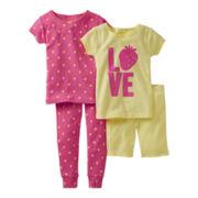 Carter's® 4-pc. Strawberry Love Pajamas - Girls 12m-24m