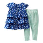 Carter's® 2-pc. Blue Bird Pant Set - Girls newborn-24m