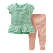 Carter's® 2-pc. Kitty Pant Set - Girls newborn-24m