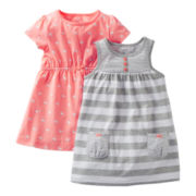 Carter's® 2-pk. Bird Print Dresses - Girls newborn-24m