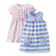 Carter's® 2-pk. Bow Print Dresses - Girls newborn-24m