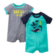 Carter's® 2-pk. Fish Rompers - Boys newborn-24m