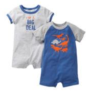 Carter's® 2-pk. Dinosaur Rompers - Boys newborn-24m