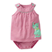 Carter's® Cat Sleeveless Romper - Girls newborn-24m