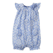 Carter's® Flower Print Romper - Girls newborn-24m
