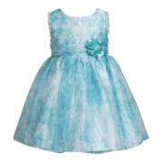 Youngland® Sleeveless Watercolor Floral Dress - Girls 12m-6y