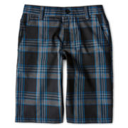 Burnside® Blue and Black Plaid Shorts - Boys 5-20