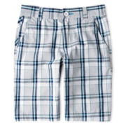 Burnside® White and Turquoise Shorts - Boys 5-20
