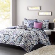Madison Park Dorian 6-pc. Quilted Coverlet Set