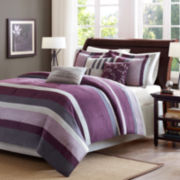 Madison Park Parker Stripe 7-pc. Comforter Set