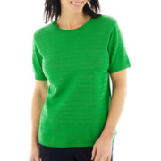 Alfred Dunner® Greenwich Circle Short-Sleeve Sweater Shell