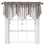 Queen Street Farmington Rod-Pocket Ascot Sheer Valance