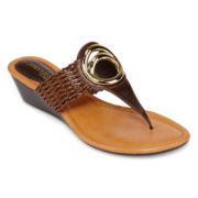 St. John's Bay® Dottie Wedge Sandals