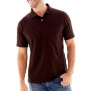 St. John's Bay® Solid Jersey Polo Shirt