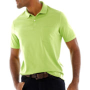 St. John's Bay® Solid Jersey Polo Shirt