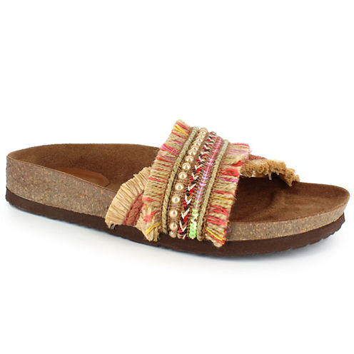 Just Dolce By Mojo Moxy Caren Womens Flat Sandals