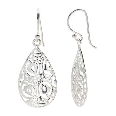 Silver Treasures The Skinny Sterling Silver Drop Earrings