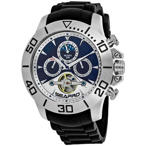 Sea-Pro Montecillo Mens Black Bracelet Watch-Sp5122