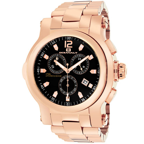Oceanaut Mens Rose Goldtone Bracelet Watch-Oc0827