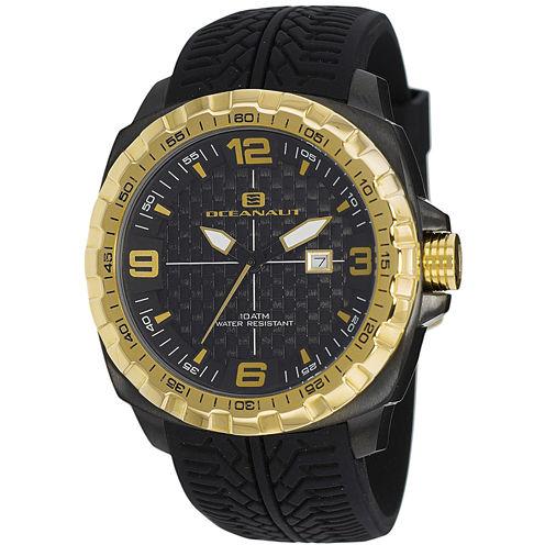 Oceanaut Mens Black Strap Watch-Oc1112