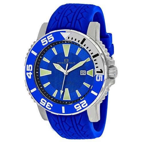Oceanaut Mens Blue Strap Watch-Oc2918