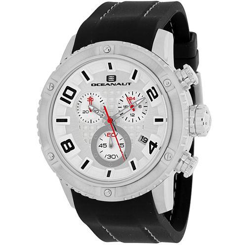 Oceanaut Mens Black Strap Watch-Oc3121r