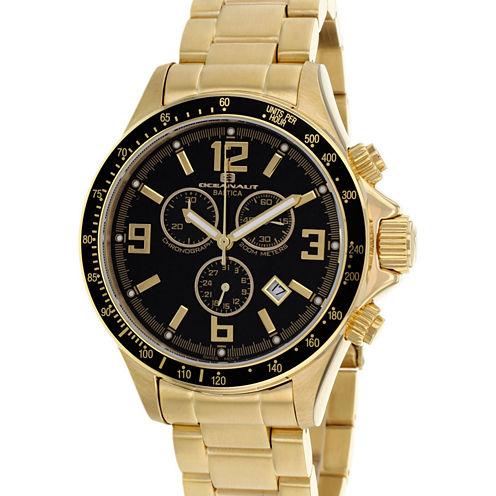 Oceanaut Mens Gold Tone Bracelet Watch-Oc3327