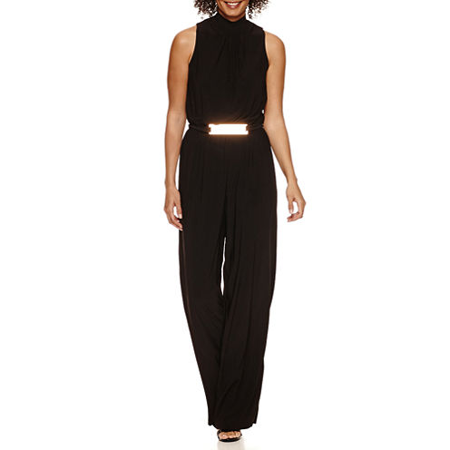 Emma And Michele Sleeveless Elastic Waist Jumpsuit