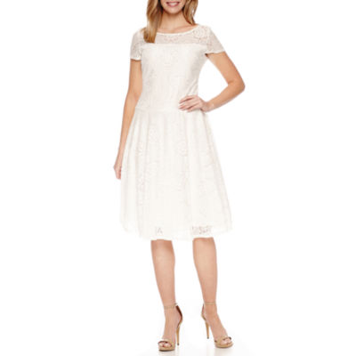 Sangria Ivory Short Lace Dress