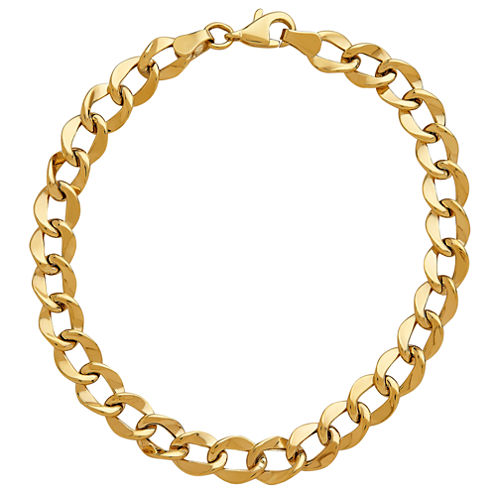 Limited Quantities! Womens 8 Inch 10K Gold Link Bracelet