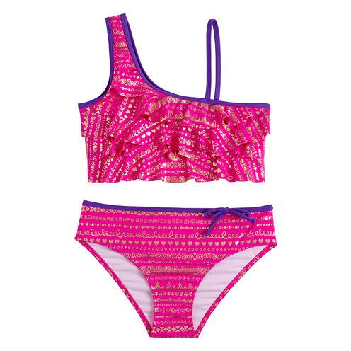 Limited Too Girls Pattern Bikini Set - Big Kid