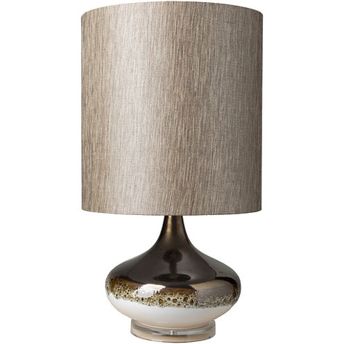 Décor 140 Colmesneil 15x15x28 Indoor Table Lamp -Brown