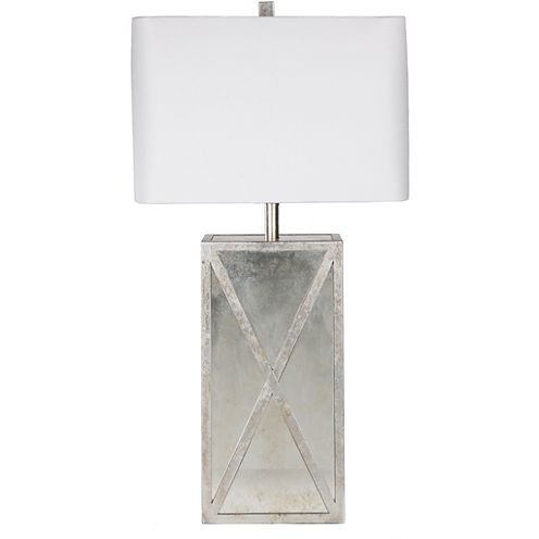 Décor 140 Dennard 27x9x14 Indoor Table Lamp - Silver