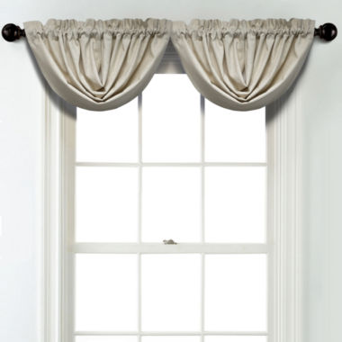 jcpenney.com | JCPenney Home Linen Rod Pocket Poly-Cotton Lined Waterfall Valance
