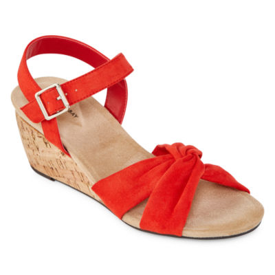 St John S Bay Womens Pasadena Wedge Sandals Jcpenney