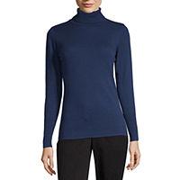 Worthington Womens Turtleneck Long Sleeve Pullover Sweater Deals