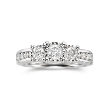 jcpenney.com | TruMiracle® 1 CT. T.W. Diamond 3-Stone Engagement Ring