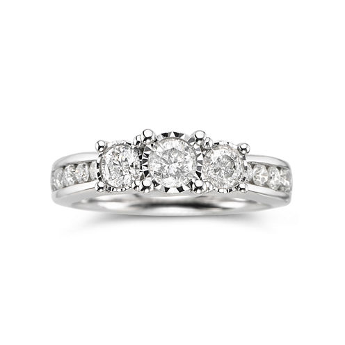 TruMiracle® 1 CT. T.W. Diamond 3-Stone Engagement Ring