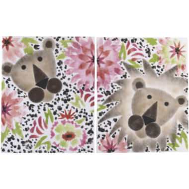 jcpenney.com | Cotton Tale Here Kitty Kitty 2-pc. Wall Art