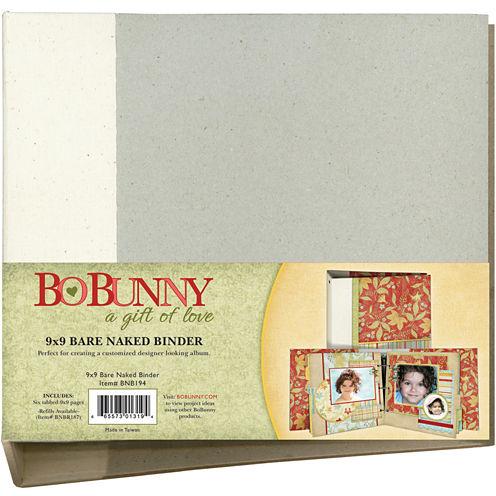 Bo Bunny 3-Ring Bare Naked Binder 9x9