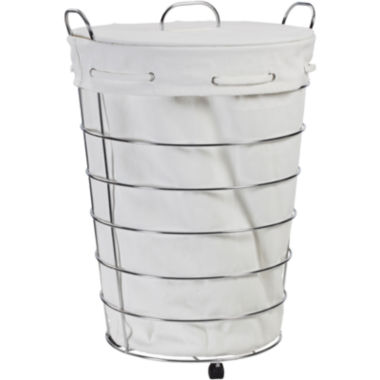 jcpenney.com | Creative Bath™ Aspen Rolling Hamper with Lid