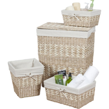 jcpenney.com | Creative Bath™ Arcadia 4-pc. Storage Hamper Set